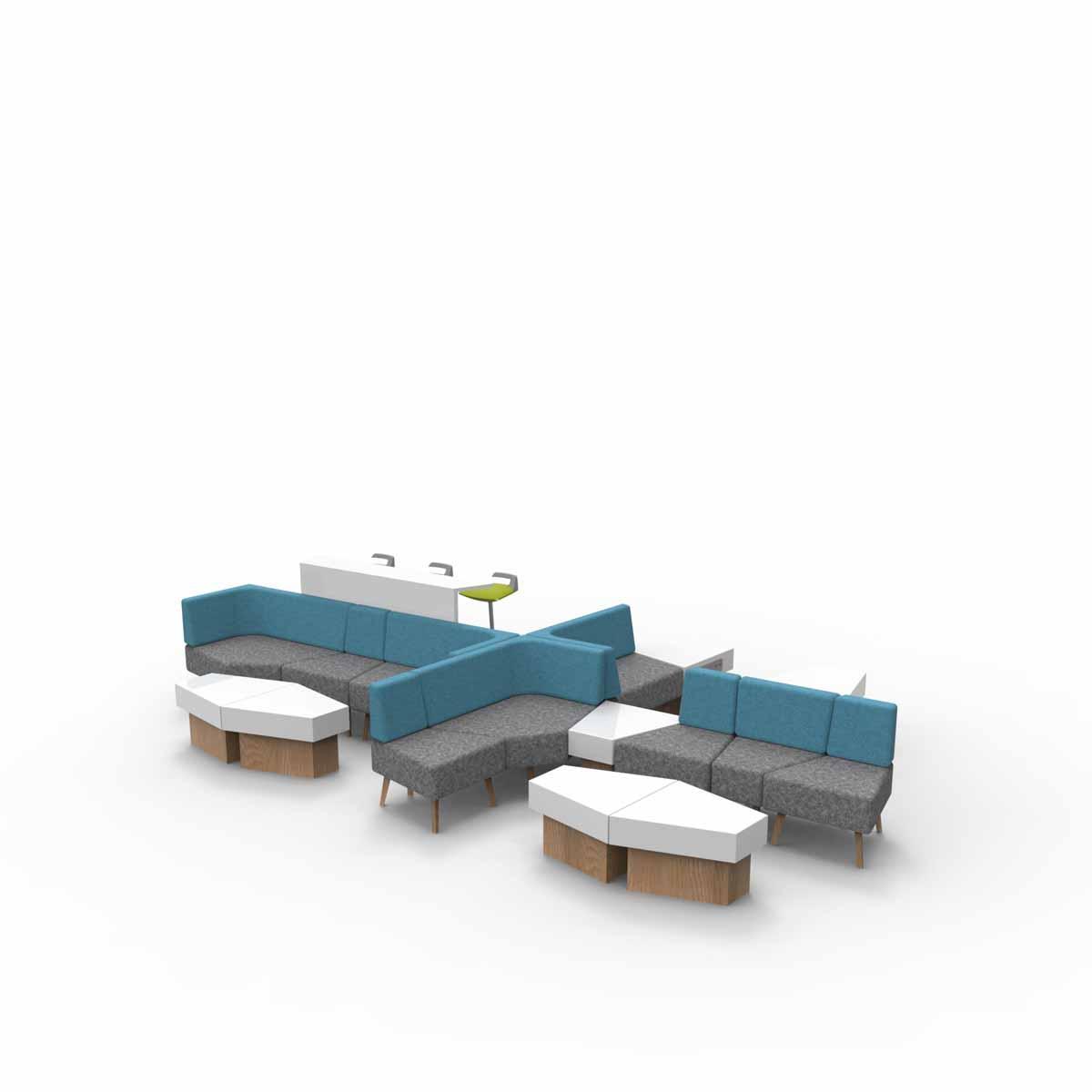 Trident Sofa工作岛沙发_酒店软包隔断沙发_玛拉蒂万博app客户端