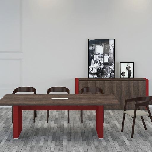 ARCO油漆会议桌_贴皮会议桌_玛拉蒂