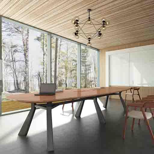 实木会议桌_大型会议桌_玛拉蒂会议桌