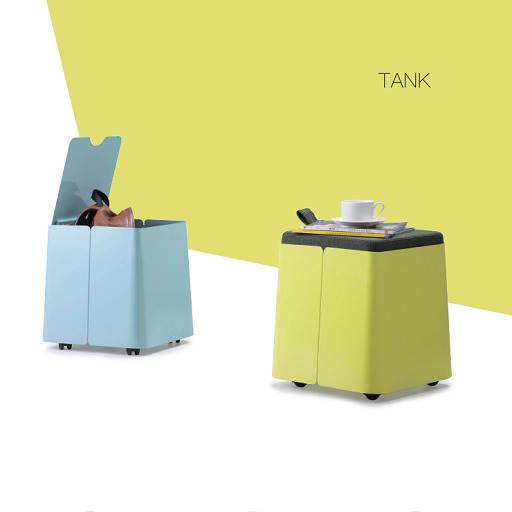 TANK坐凳钢制文件柜_可移动