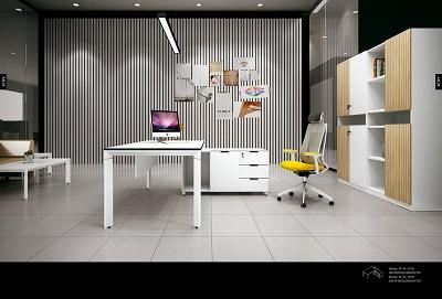 板式共享办公家具