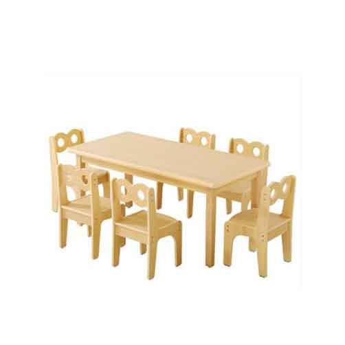 幼儿园实木学习桌_儿童学习桌