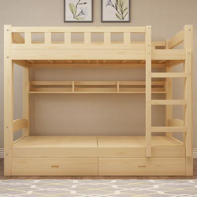 学校宿舍床_实木上下床