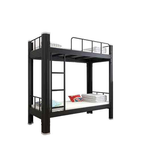 双层铁架床上下铺床_学生学校宿舍床