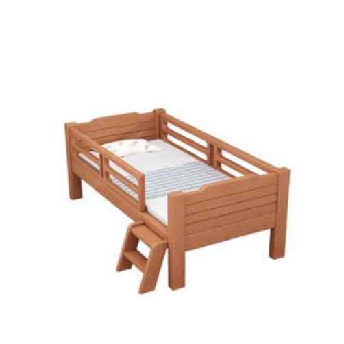实木带护栏儿童床_幼儿园学校宿舍床
