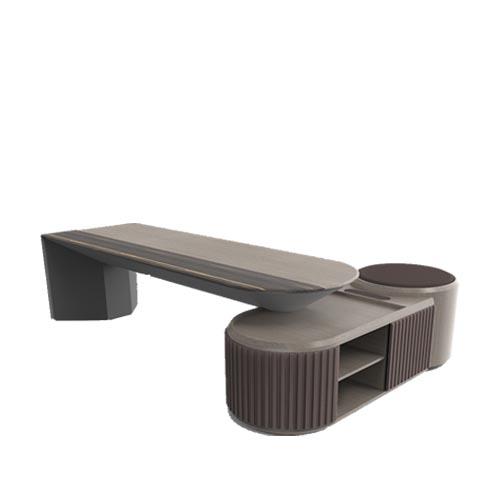 Mavo实木办公桌 - 3米实木班台_实木班台可