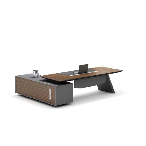 R02经理办公桌_实木办公桌