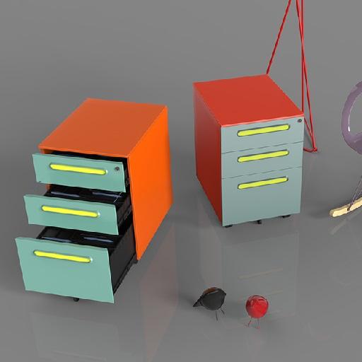 Q3活动柜_彩色铁皮文件柜