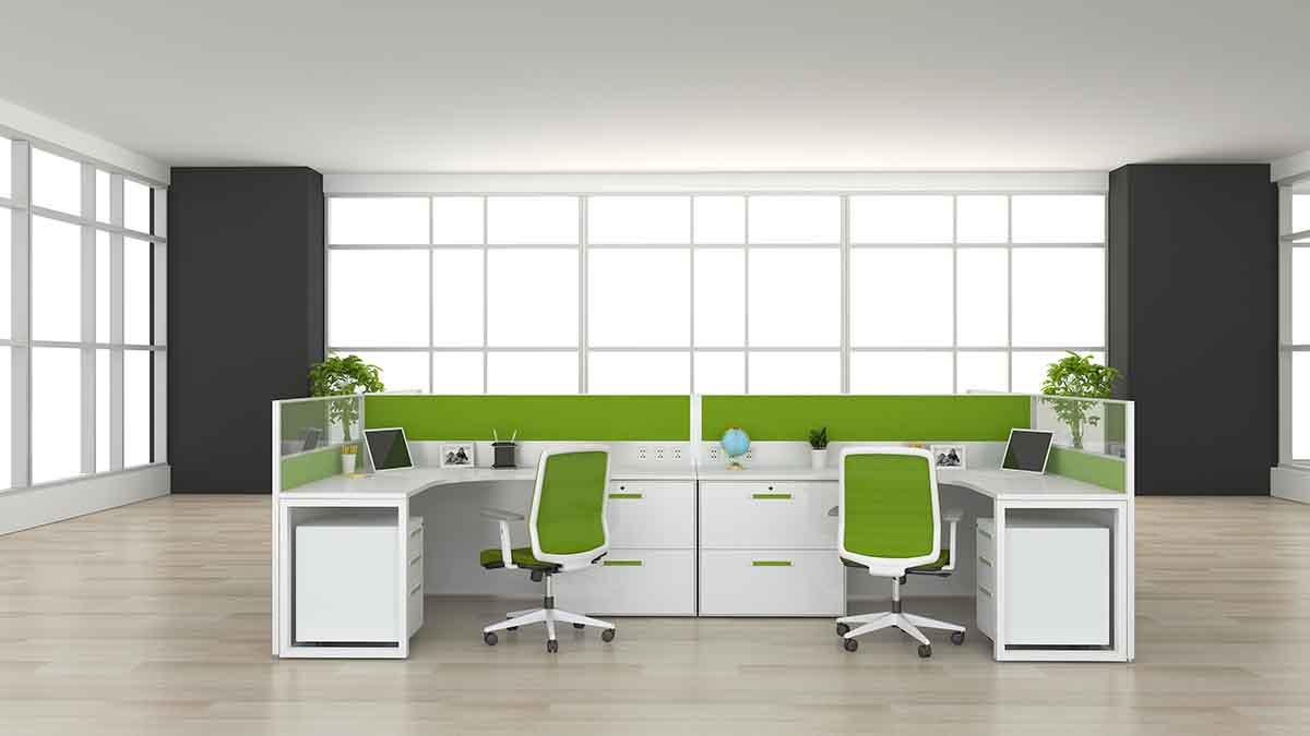 如何选择合适的屏风工作位—郑州办公家具教你