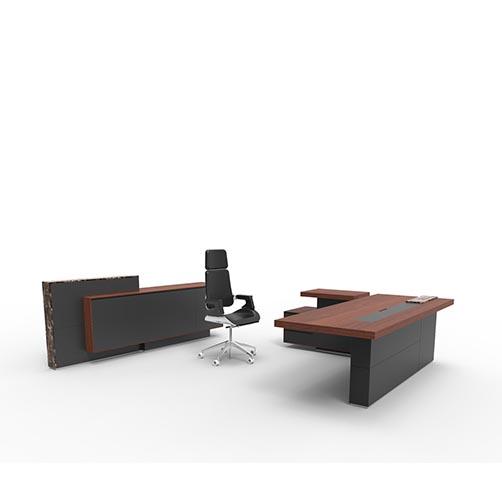 Auther实木办公桌_经理办公桌