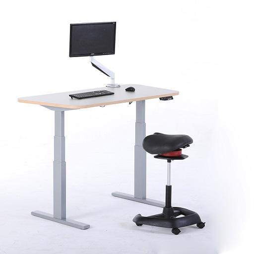 单人位升降桌图片_智能升降桌