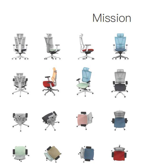 郑州办公家具MISSION人体工学椅为您撑腰
