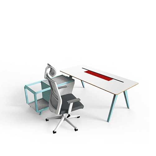 Cavallo经理办公桌_高端实木办公桌