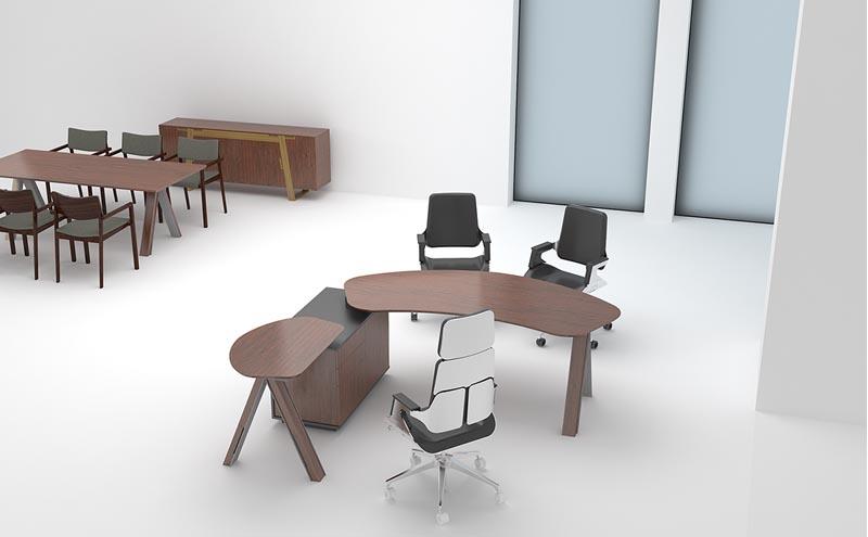 Viva维沃实木办公桌_经理办公桌
