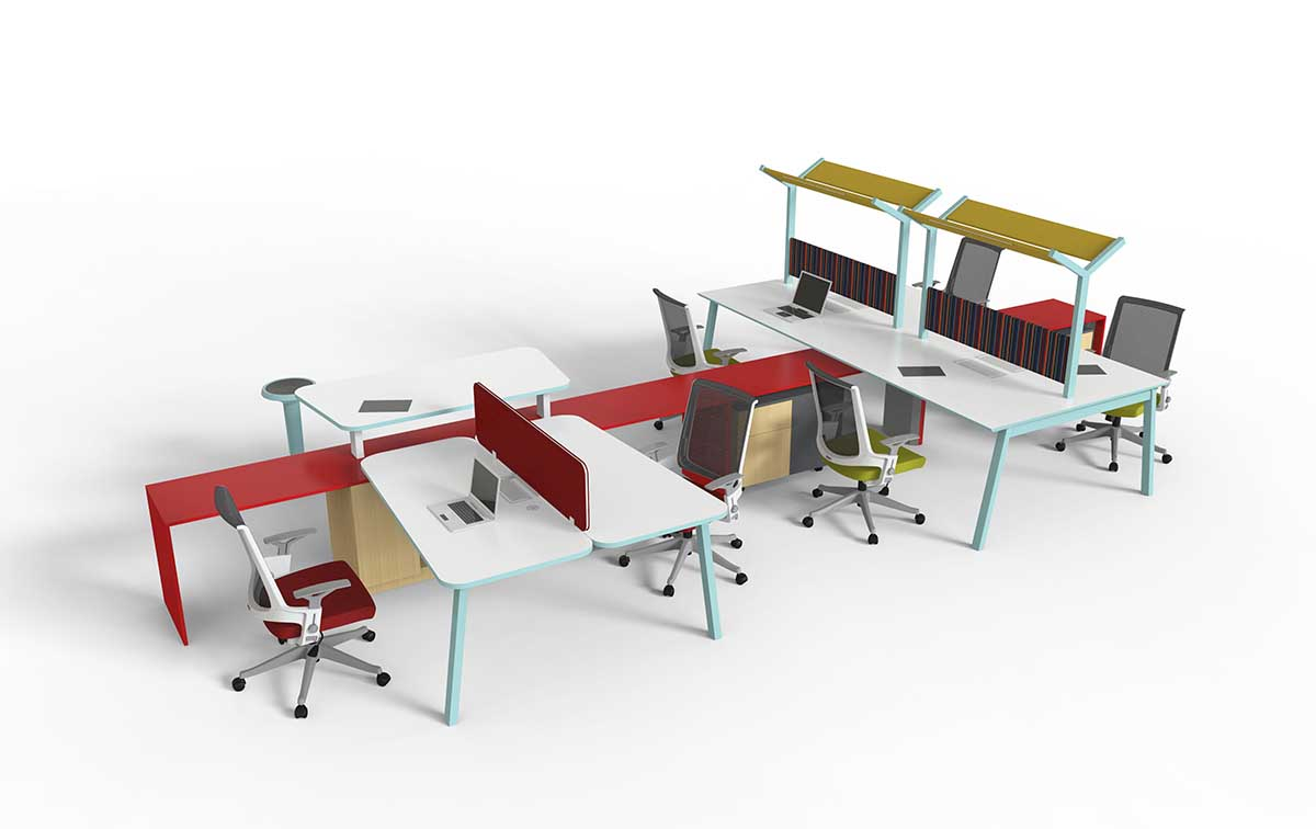 VT-Y职员办公桌 - 创意多人办公桌_创意多人组合办公桌