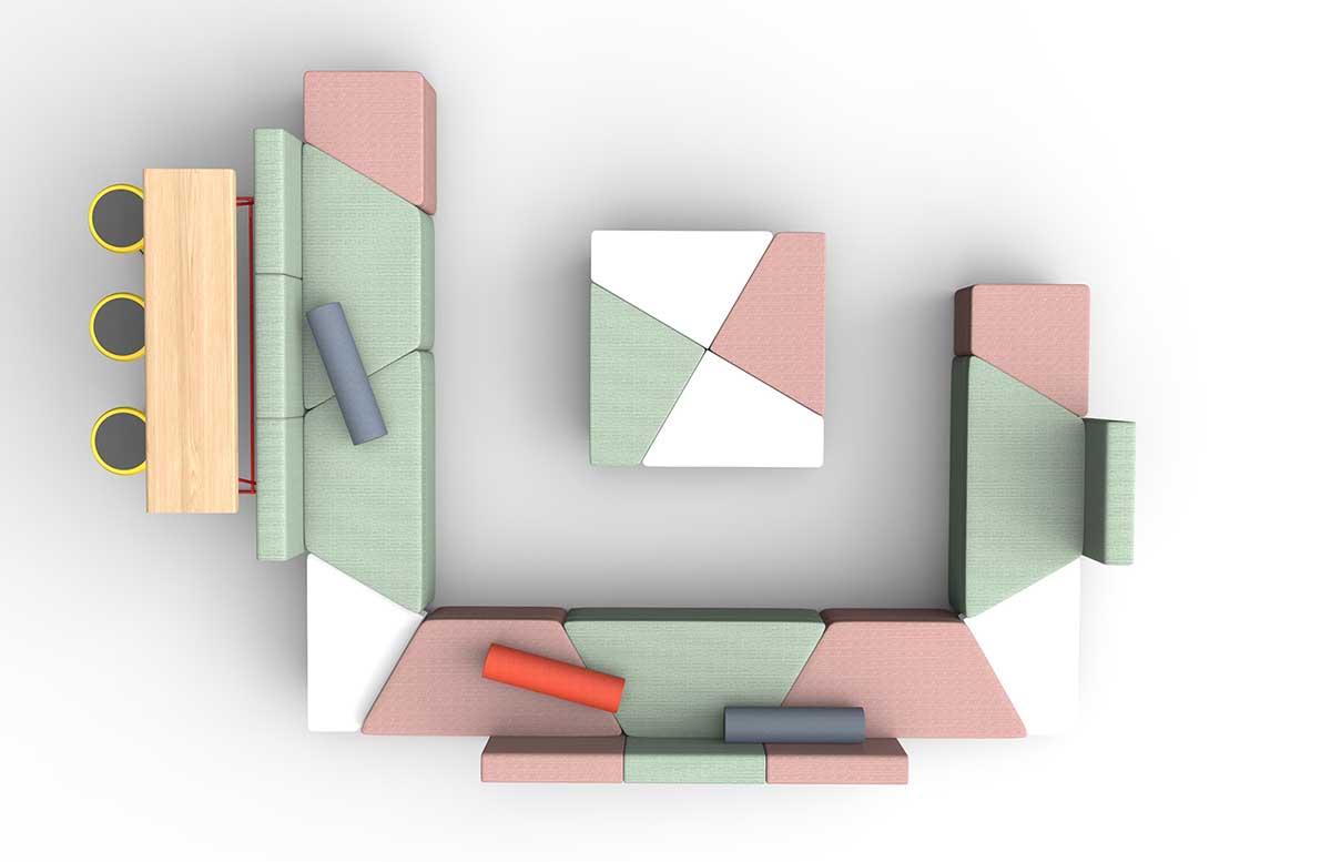 Puzzle拼图沙发图片_休闲办公沙发
