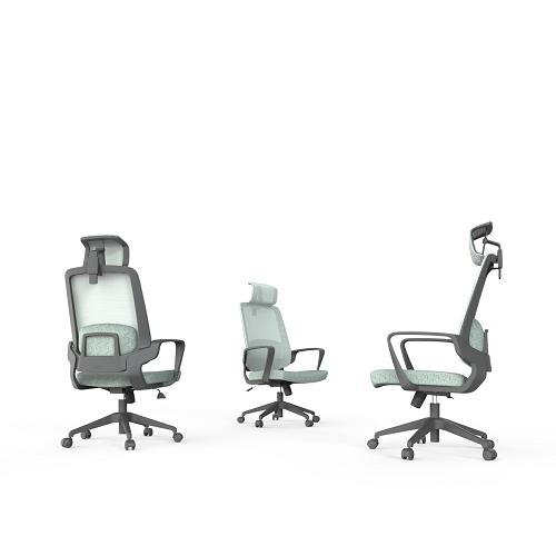 C4职员椅_带靠枕人体工学办公椅