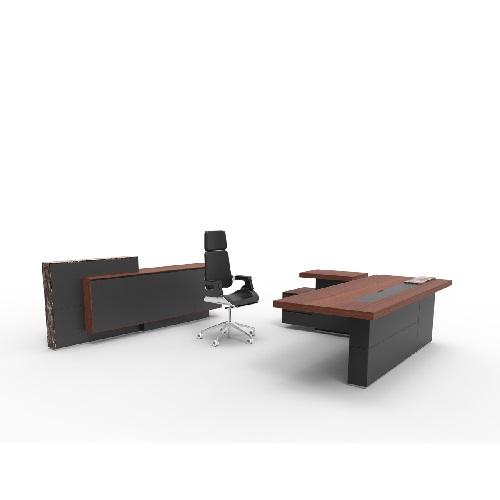 Arthur实木办公桌_经理办公桌