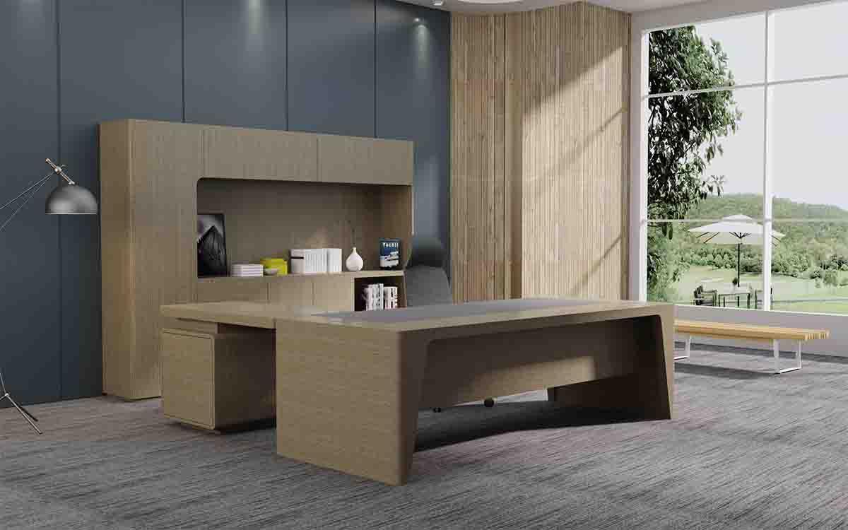 Titan经理办公桌_泰坦实木办公桌